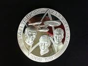 STAR TREK Memorabilia Collectable Coin 177.8G of .925 Silver